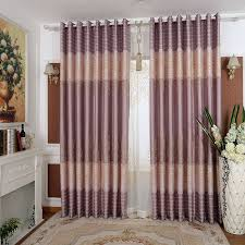 Purple Curtains Living Room Luxury European Style Blackout Living Room Curtain