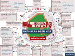 Coors Field Map The Nationals Park Beer Guide The Nationals Review