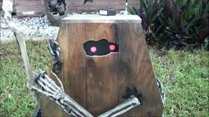 animated coffin creep halloween prop youtube