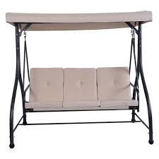 Cushioned Chairs 3 Seats Cushioned Porch Swing Chair Porch Swings Outdoor