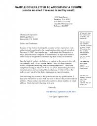 cover letter sending resume and cover letter by email sending a