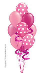 Balloon Bouquets Party Pink Balloon Bouquet 10 Balloons By Balloonz Com
