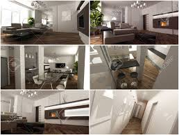 Modern Style Living Room by 3d Interior Of The Studio Living Room In A Modern Style Stock