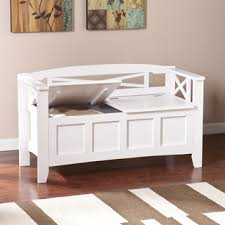 White Bench With Storage Shop For Harper Blvd Corin White Storage Bench And More For
