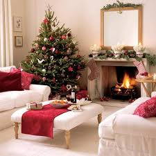 decorations white red and green living room christmas decoration