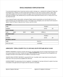sample insurance verification form 10 free documents in word pdf