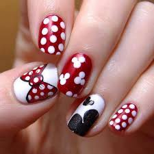 butterfly and white dots christmas nail art designs nail designs