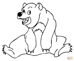 polar bear color page colouring pages 3 dragon color by number