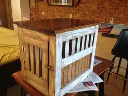 Build Wood End Tables by How To Build A Dog Kennel End Table Diy Projects For Everyone