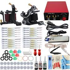 tattoo kit without machine professional complete tattoo kits 10 wrap coils 2 guns machine 3