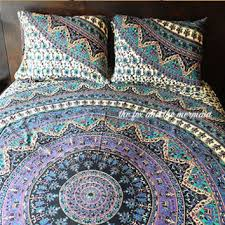 best boho bed sheets products on wanelo with mandala tapestry bed sheet  matching pillowcases roundie mandala sheet set  indian mandala tapestry from waneloco