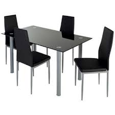 table et chaise cuisine conforama ensemble table 4 chaises featuring coloris noir vente de