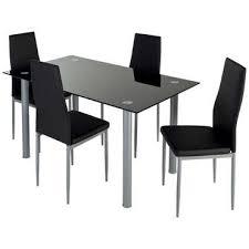 table de cuisine conforama ensemble table 4 chaises featuring coloris noir vente de