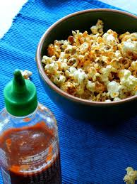 sri racha ranch popcorn kids in the sink