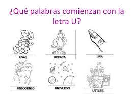 imagenes q inicien con la letra u vocal u imágenes y objetos colorear material para maestros