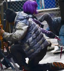 Hit The Floor Kickass - chloe moretz dons purple wig to film fight scenes for kick 2