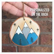 personalized christmas ornament custom mountain ornament