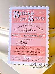 sugar and spice baby shower invitations sugar and spice baby