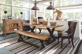 ashley dining table with bench wesling dining room bench ashley furniture homestore