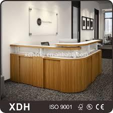 Best Price Wooden Reception Desk Office Furniture Counter Design