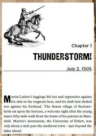 luther s when lightning struck the story of martin luther by danika cooley