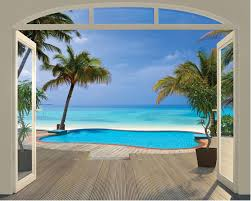 walltastic paradise beach wall mural hayneedle