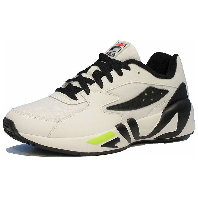 Fila Men's Mindblower SLV Athletic Sneakers White/Black/Soft Yellow