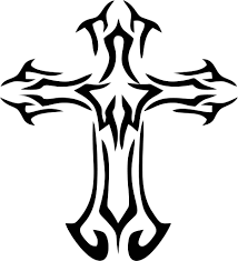 simple black cross tattoo cross tattoo vinyl decals
