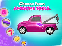 pink kid car car wash spa u0026 salon kids game android apps on google play