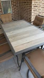 outdoor table top replacement wood makeover an outdoor table and refresh chairs patio table outdoor