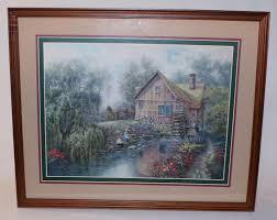 best vintage home interior homco picture amish children water