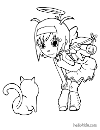 angel coloring pages hellokids com