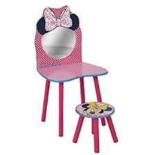 Minnie Mouse Vanity Mirror Disney Minnie Mouse Dressing Table And Stool By Hellohome Amazon