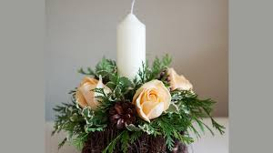 how to christmas candle centerpieces youtube