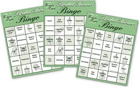 wedding words for bingo bridal shower party bingo cards 24 cards