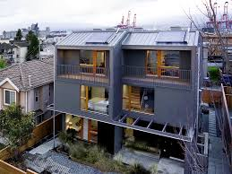 ecological densification four townhouses shape architecture