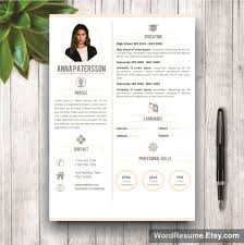 Instant Resume Templates 4 Pages Resume Template Instant Digital Download U2013 U201canna Patterson U201d