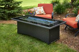 Glass Firepit Furniture Gas Pit Table Bring Warm Nuance