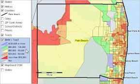 Palm Beach Florida Zip Code Map Demographic Trends 2010 2020 Population Estimates