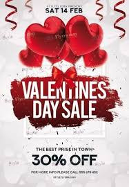 valentines sales valentines day sale psd flyer template 22534 styleflyers