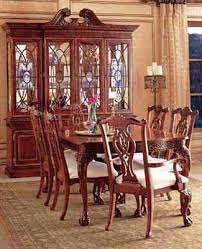 dining table round wood dining table with upholstered chairs