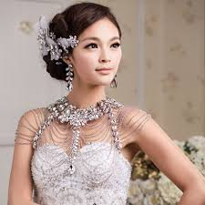 bridal jewelry vintage luxury wedding jewelry necklace chains bridal