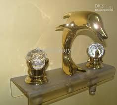 cheap bathroom sink faucets gold pvd bathroom sink faucet crystal handles dolphin faucet dolphin