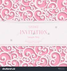Invitation Card Background Design Vector Swirl Pink 3d Valentines Wedding Stock Vector 360732221