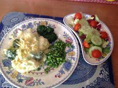 jacket potato with mushroom and leek food combining recipe