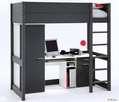 lit mezzanine noir avec bureau lit sureleve avec bureau lit mezzanine avec bureau et penderie