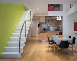 NY Duplex Contemporary Staircase Small Space Room House Interior - Small space home interior design