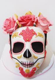 dia de los muertos cake halloween cake sugar skull cake
