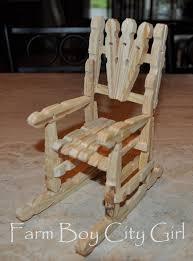 Broken Rocking Chair Barbie Doll Clothes Pin Chair