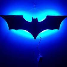 wall decor multicolor led batman superhero symbol light